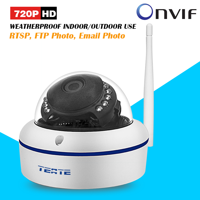 ФОТО TEATE Metal Alloy Case 720P HD Mini Dome IP Camera Outdoor Wireless Wifi Weatherproof ONVIF and RTSP with Free P2P CK-380