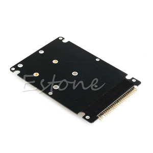 "Image 3 - Novo msata para 2.5 ""44pin ide hdd ssd msata para pata conversor adaptador cartão + caso"