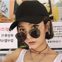 2019 Korean Style Designer Lady Oval Sunglasses Women Vintage Ocean Lenses Mens Eyewear Sun Glasses Oculos UV400