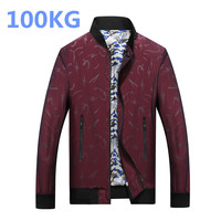 New 100KG Fat Plus Size Jacket Men L 8XL Fashion Casual Loose Mens Jacket Large Size