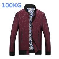 New 100KG Fat Plus Size Jacket Men L 8XL Fashion Casual Loose Mens Jacket Large Size