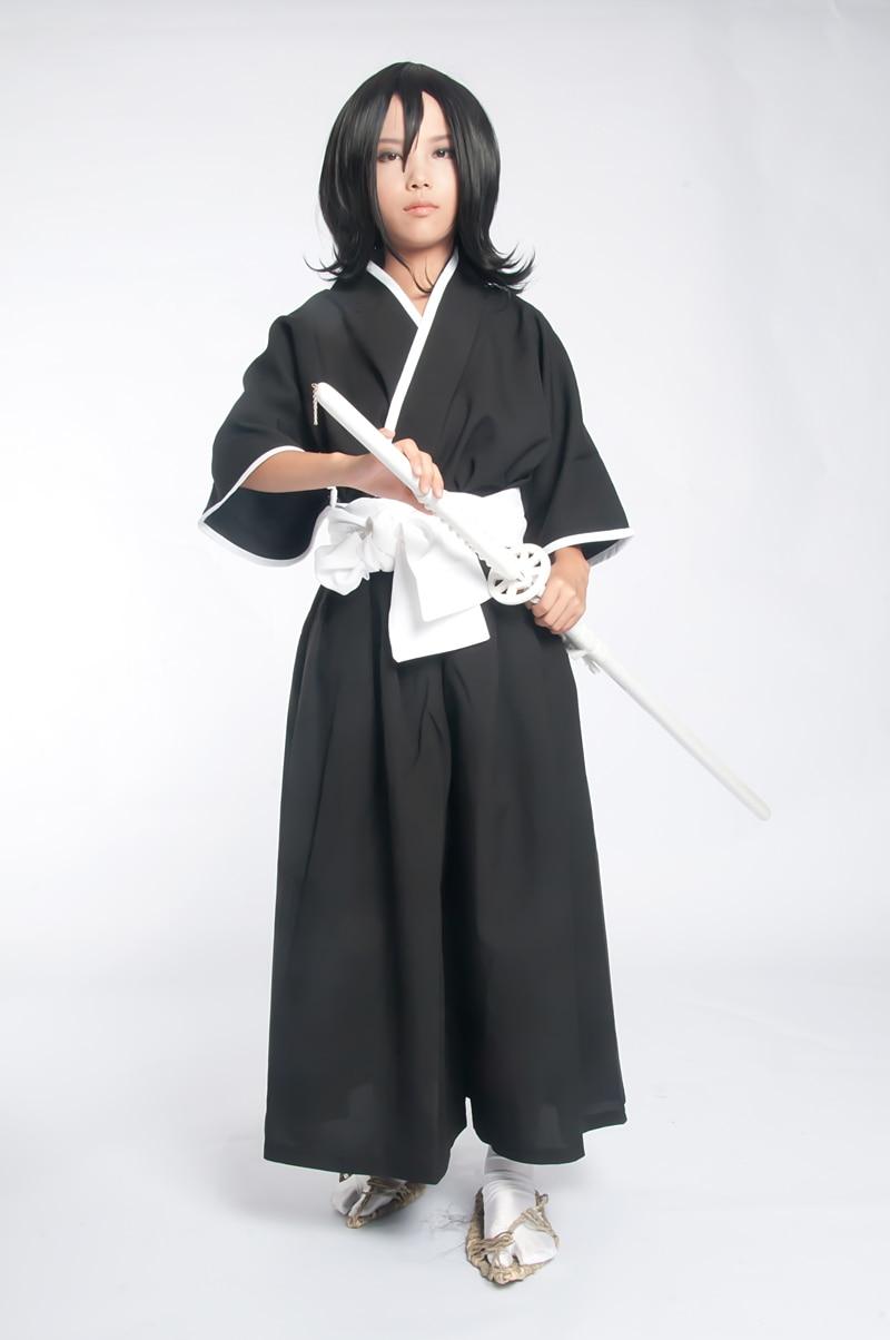 Track Bleach Shinigami Ichigo Rukia Renji Kendo Kimono Anime Cosplay Costume