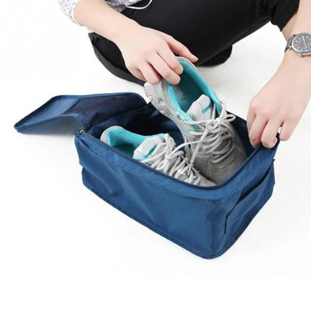 Travel Home Necessity 1 PCS 27*11*15cm Household Furniture Organizer Portable Waterproof Nylon+Mesh  Shoe Storage Bags