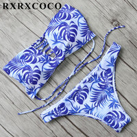 MOOSKINI Bikini 2017 New Sexy Women Swimsuit Fashion Floral Brazilian Bikini Set Bandeau Swimwear Maillot De
