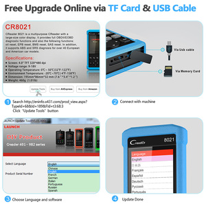 Image 5 - Launch CR8021 OBD2 Automotive Scanner Diagnostic Tool DPF Regenerate Oil Reset ABS Airbag TPMS BMS EPB Sytem OBD 2 Scan tool