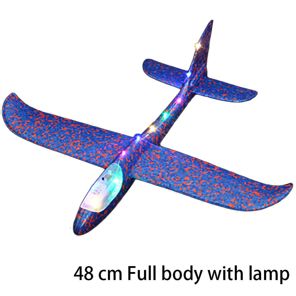 48 см DIY ручной бросок Летающий планер игрушки-самолеты для детей пена модель аэроплана вечерние сумки наполнители Летающий планер самолет игрушки игры