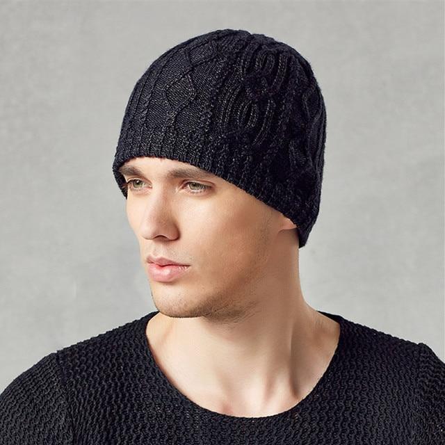 Kenmont Winter Men Male Warm Outdoor Wool Acrylic Earflap Ski Hat Knit Skull Beanie Cap 1572