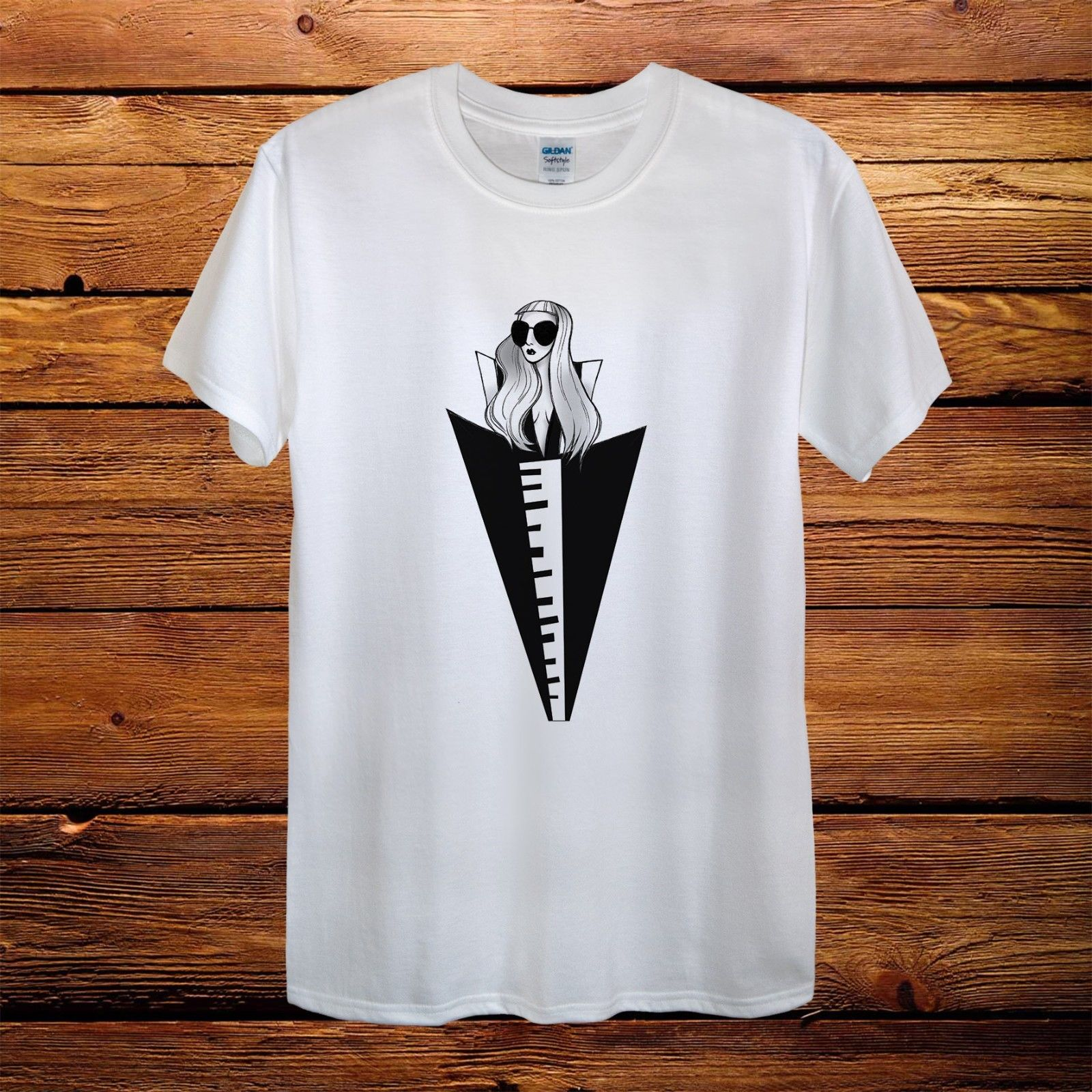 Lady Gaga Top Design T-Shirt Men Unisex Women Fitted World Tour Gift Joanne