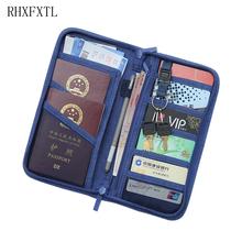 Mężczyźni kobiety Travel Organizer paszport pakiet posiadacz karty kredytowej posiadacz karty portfel dokument pakiet Travel akcesoria torba tanie tanio Akcesoria podróżne 12 5 cm Polecenie RHXFXTL 23 5 cm 130g Poliester Stałe Pokrowce na paszport 3 cm