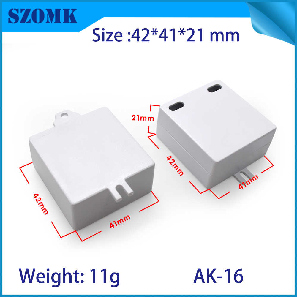 20 sztuk dużo sterownik plastikowe pudełko 42*41*21mm z tworzywa sztucznego obudowa elektroniki i Przełączniki elektryczne szafka LED sterownik obudowa