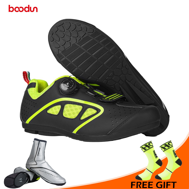 BOODUN New Men Non-locking Cycling Shoes MTB Road Bike Shoes Breathable Leisure Bicycle Shoes Non-slip Sport Sneakers ZapatoBOODUN New Men Non-locking Cycling Shoes MTB Road Bike Shoes Breathable Leisure Bicycle Shoes Non-slip Sport Sneakers Zapato