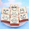 Cinta Do Telefone Bonito Rosto Toast mole Food 30 pçs/lote Brinquedos do Aperto Pão Squishies Kawaii Frete Grátis
