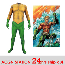 Aquaman Arthur Curry Cosplay Costume Christmas Halloween Fancy 3D Printing Spandex Jumpsuit