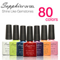 Sapphire Soak Off UV LED Nail UV Gel Polish 80Colors Nail Tools Nail Gel Hot Sale