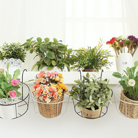 Fashion Iron Flower Stand Flower Pot Storage Rack Hanging Basket Shelf