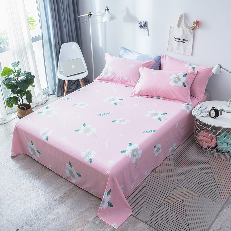 Flowers Bed Sheets for Adults Leaves Flat Sheet Tropical Plants Bed Linen pink White Bedspreads twin queen bed sheet pillowcaseFlowers Bed Sheets for Adults Leaves Flat Sheet Tropical Plants Bed Linen pink White Bedspreads twin queen bed sheet pillowcase