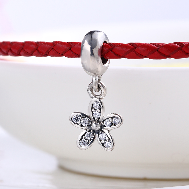 High Quality Authentic Flower CZ charms silver S925 Logo Fit Pandora Bracelet 925 original Beads for jewelry Making Gift