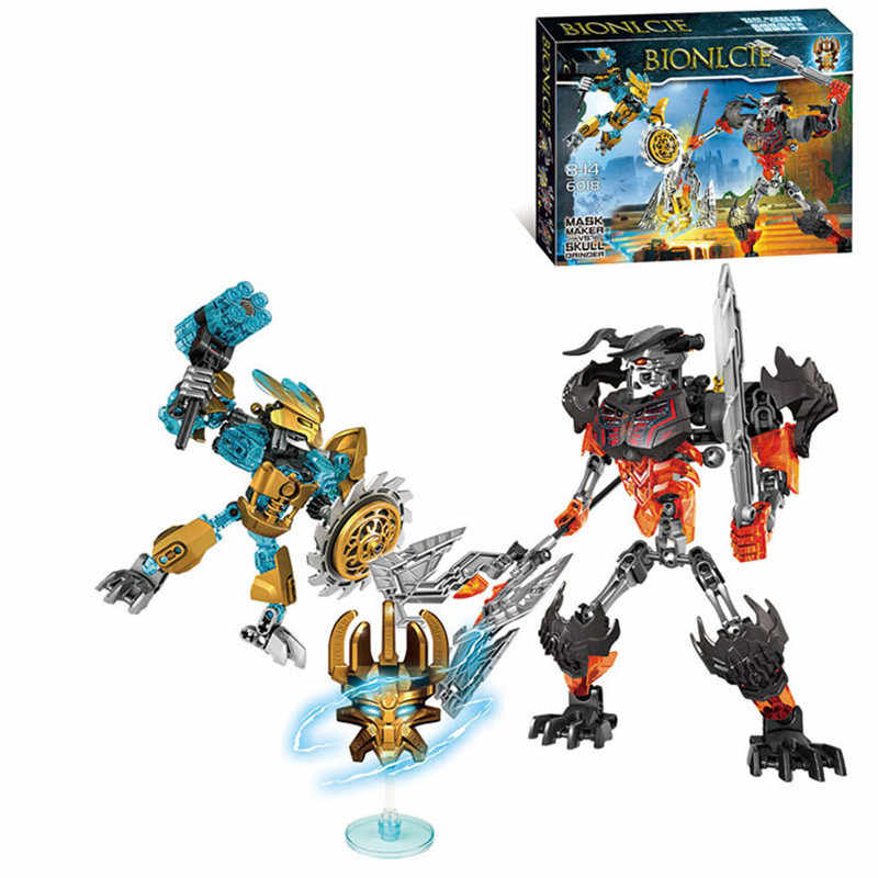 NEW 107pcs Bionicle Hero Tahu Mask Maker Skull Grinder Model Building Blocks Boys Kids Bricks Compatible with L*GO
