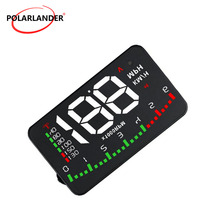 Hot sale HUD Display A900 3.5 Inch Consumption Data colorful Digital speedometer GPS function OBD 2 Heads Up