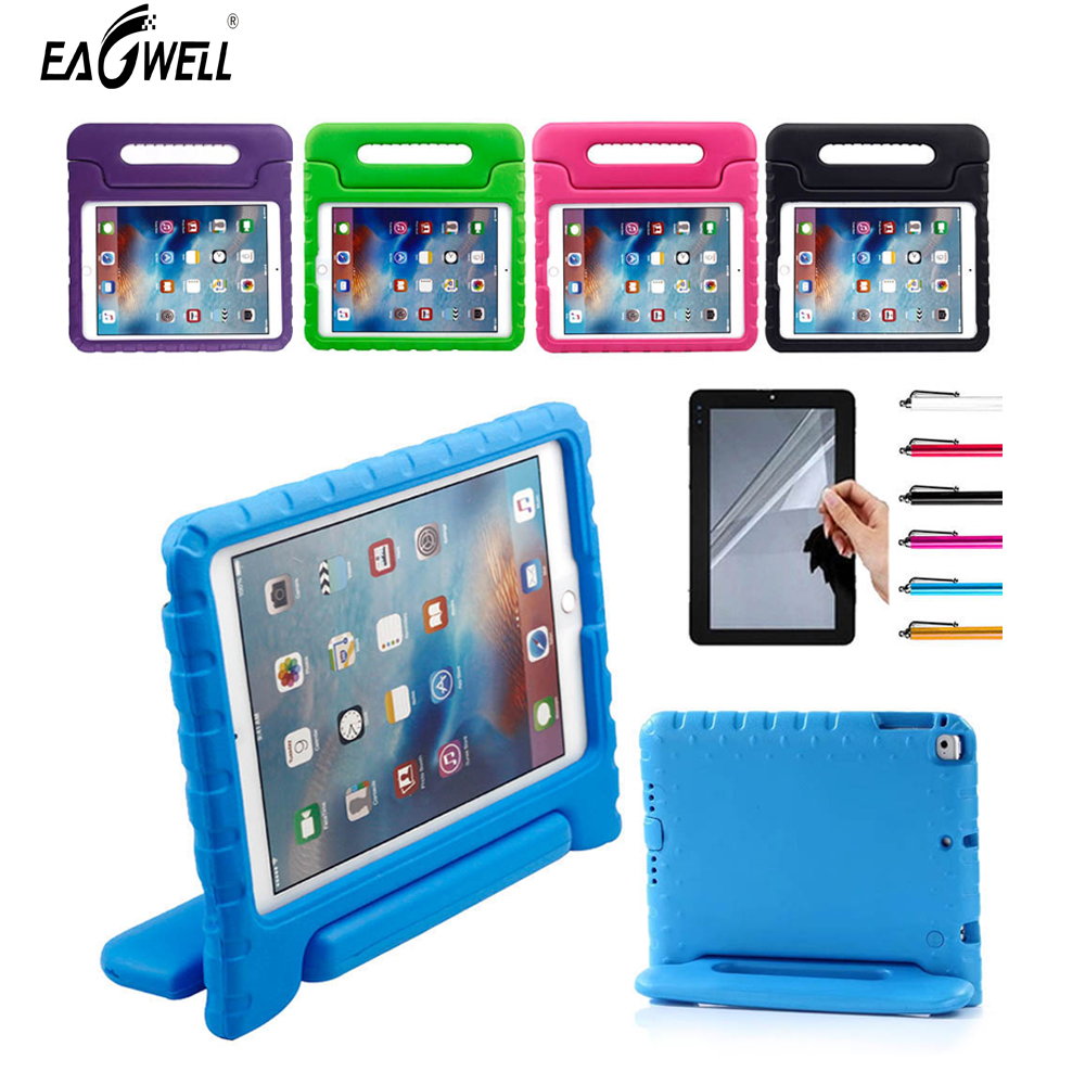 Kids Children Safe Rugged Proof Foam Case Handle Stand For New iPad 9.7 2017/2018 For iPad Air/Air 2 Thick EVA Foam Case silicone shock proof fall proof dust proof case w stand for ipad air 2 9 7 camouflage black