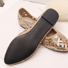 Women's Sandals 2014 Summer Fashion Slippers Women Sandals Slippers 2014 Summer Flat Heel Casual Cut-Outs Sequined Shoes