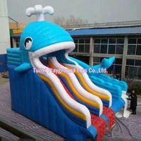 Professional factory supply customized commercial giant inflatable water slide Whale Slide