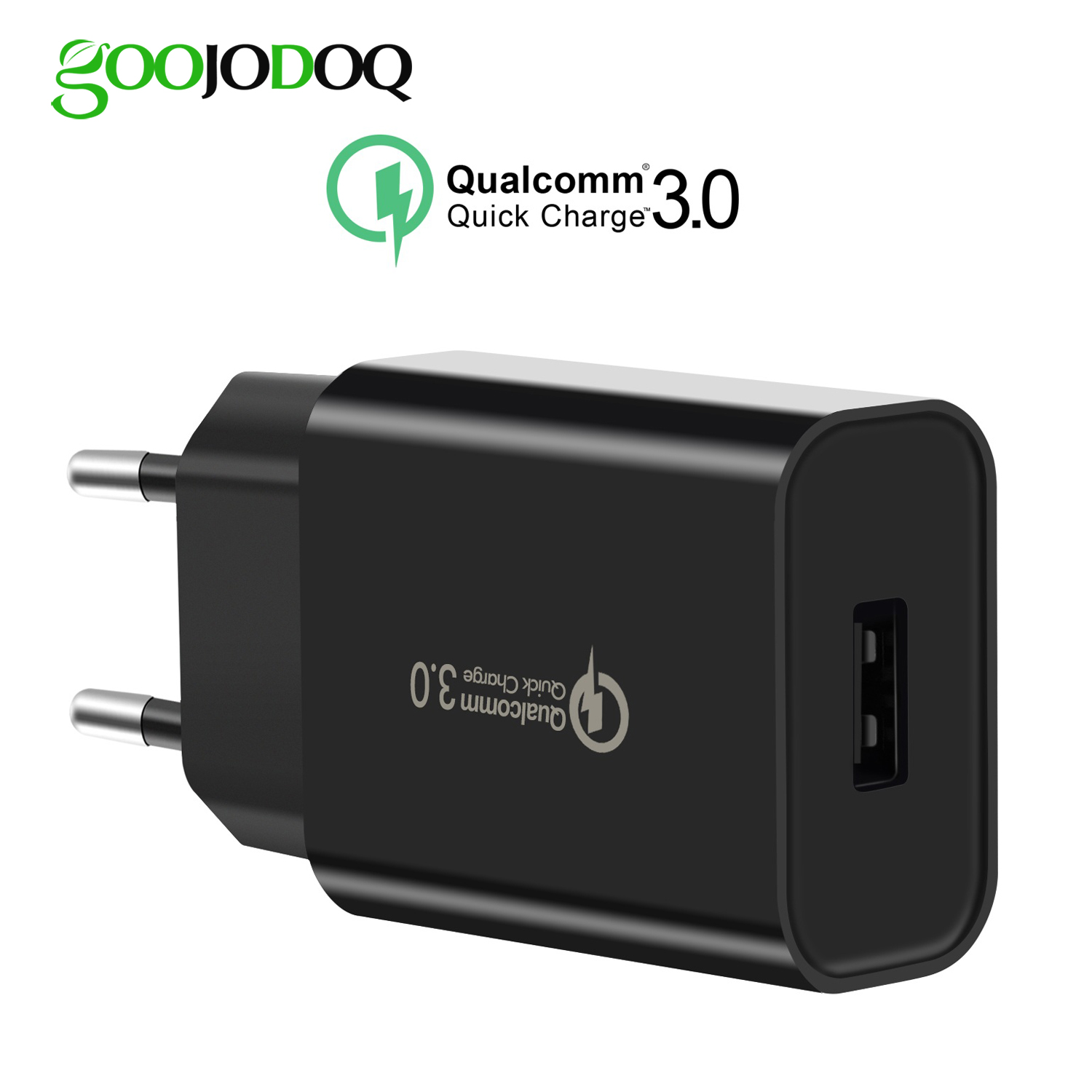 Snabbladdning QC3.0 18W Universal EU / USA Plug USB Power Portable Home Wall Travel Power Charging Adapter För iPhone Samsung Xiaomi