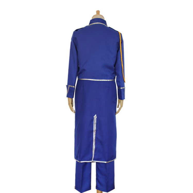 Image 3 - Anime Fullmetal Alchemist Cosplay Roy Mustang Costumes Military Uniform Suit Coat + Pants + Apron-in Anime Costumes from Novelty & Special Use