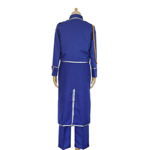 Image 3 - Anime Fullmetal Alchemist Cosplay Roy Mustang Costumes Military Uniform Suit Coat + Pants + Apron