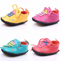 4 Cores 2016 Moda Casual Bebê Recém-nascido Do Menino Do Miúdo de Couro PU primeiros Sapatos Caminhantes Berço Bebe Sola Macia Crianças Loafer 0-1 Anos