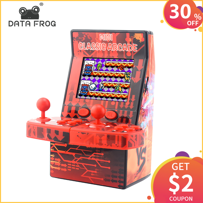 DATA FROG Classic Mini Arcade Retro Handheld Game Console Portable Built in 183 Games Support TF Card Toys Gifts for Children-in Handheld Game Players from Consumer Electronics