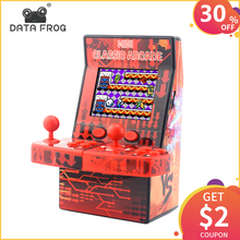 DATA FROG Classic Mini Arcade Retro Handheld Game Console Portable Built-in 183 Games Support TF Card Toys Gifts for Children