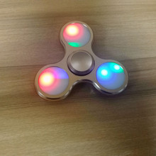 2017 New LED Light Fidget Fidget ABS Plastic Tri Spinner Glow in Dark tri-spinner Toy For Autism and ADHD Kids Gift Hand spinner