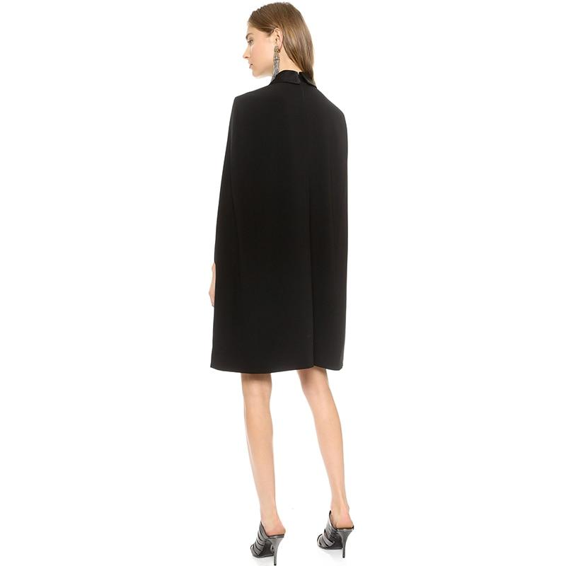 a9970f8407c02 HDY Haoduoyi Solide Cape Robe Turn Down Casual Robes pour le Travail Pour  Femmes Noir OL Automne Robe Dames Robes De Festa dans Robes de Mode Femme  et ...