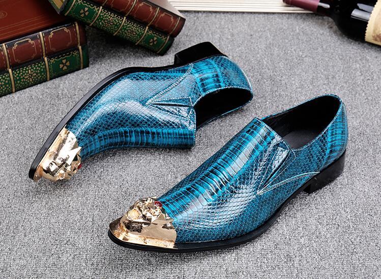 Dedos Salto Oxford Bico on Vestido Baixo Nova Azul Slip Masculino De Imitar Couro Genuínos Sapatos Sapatas Sólidos Fino Ferro Homens Paisley wSaHgwq