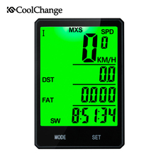 2017 CoolChange Bike Computer Waterproof Odometer Cycling Wired Wireless Measurable temperature Stopwatch Bicycle Speedometer multifunctions bike computer bicycle speedometer odometer tracking distance speed time calories temperature velocimetro bike