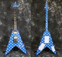 Starshine Randy Rhoads Fly V Electric Guitar Floyd Rose Bridge Metal Pickups Rings More Color