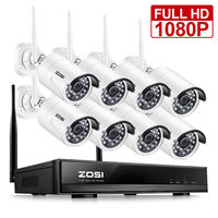 ZOSI 8CH CCTV System Wireless 1080P HD NVR 8PCS 2 0MP IR Outdoor Waterproof P2P Wifi