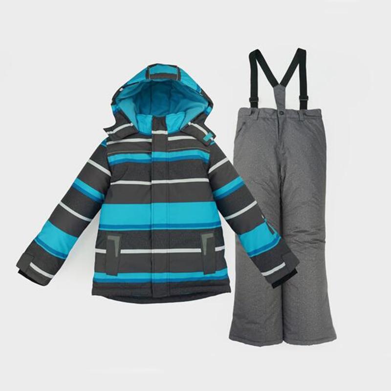 Honeyking Boys Ski Jacket Children Waterproof Windproof Kids Ski Set Winter Warm Snowboard Outdoor Ski Suit Boys Costume Ski Set