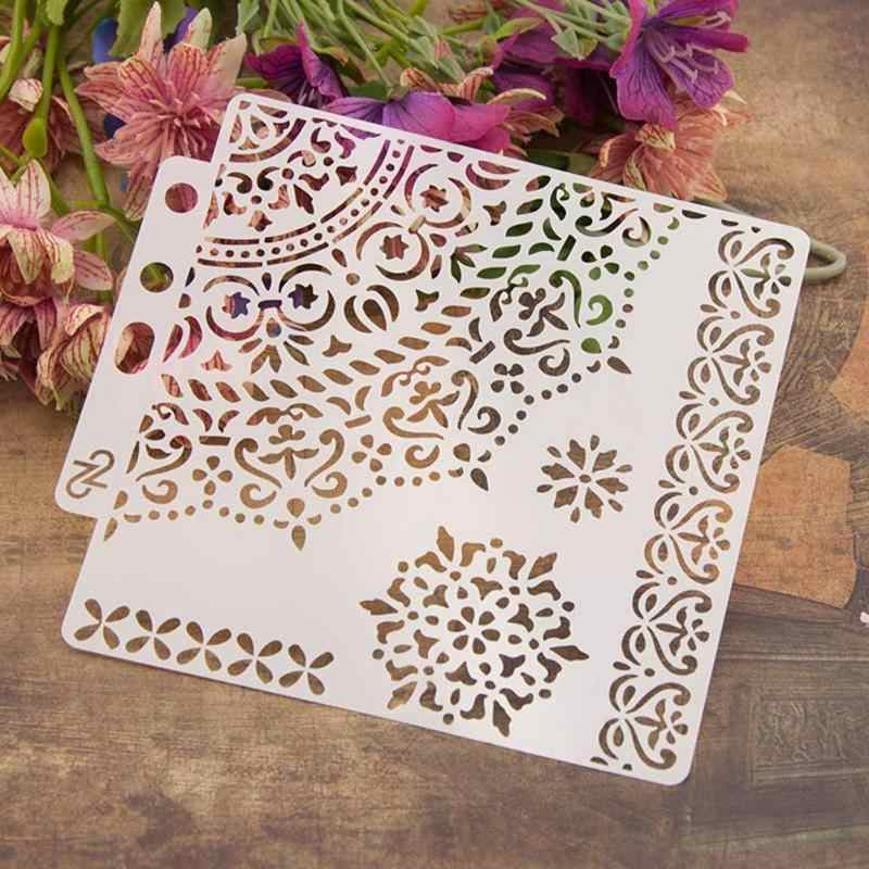 Professional Plastic Cake Stencils Flower Spray Stencils Birthday Cake Mold Decorating Bakery Tools DIY Mould Fondant Templates