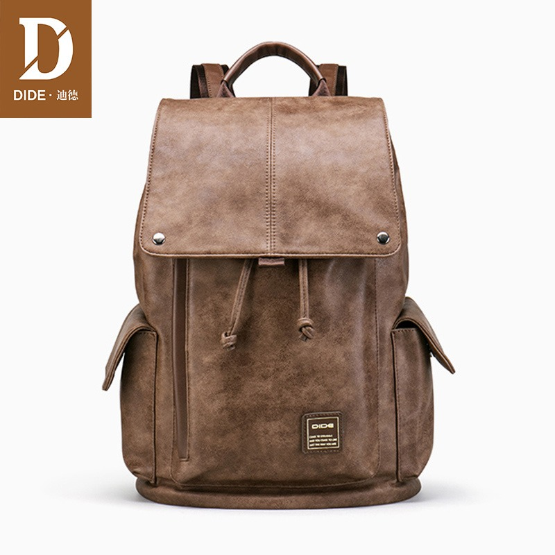Men's Bags Honest High Class Oil Waxed Genuine Leather Men Backpack Leather Travel Backpack Men School Backpack Male Mountaineering Bag Brown