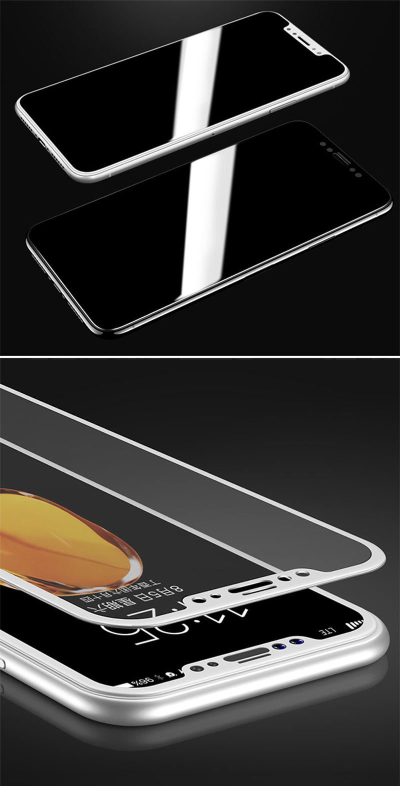 Tomkas 0.2MM Glass For iPhone X Screen Protector Tempered Glass Full Cover Screen Protectors For iPhone X 10 Glass               (12)