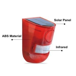 Image 4 - Security Alarm Zonne energie Sirene Met Strobe IP65 Waterdichte 110dB Luide Sirene Ingebouwde PIR Motion Sensor Voor Huis Tuin Outdoor