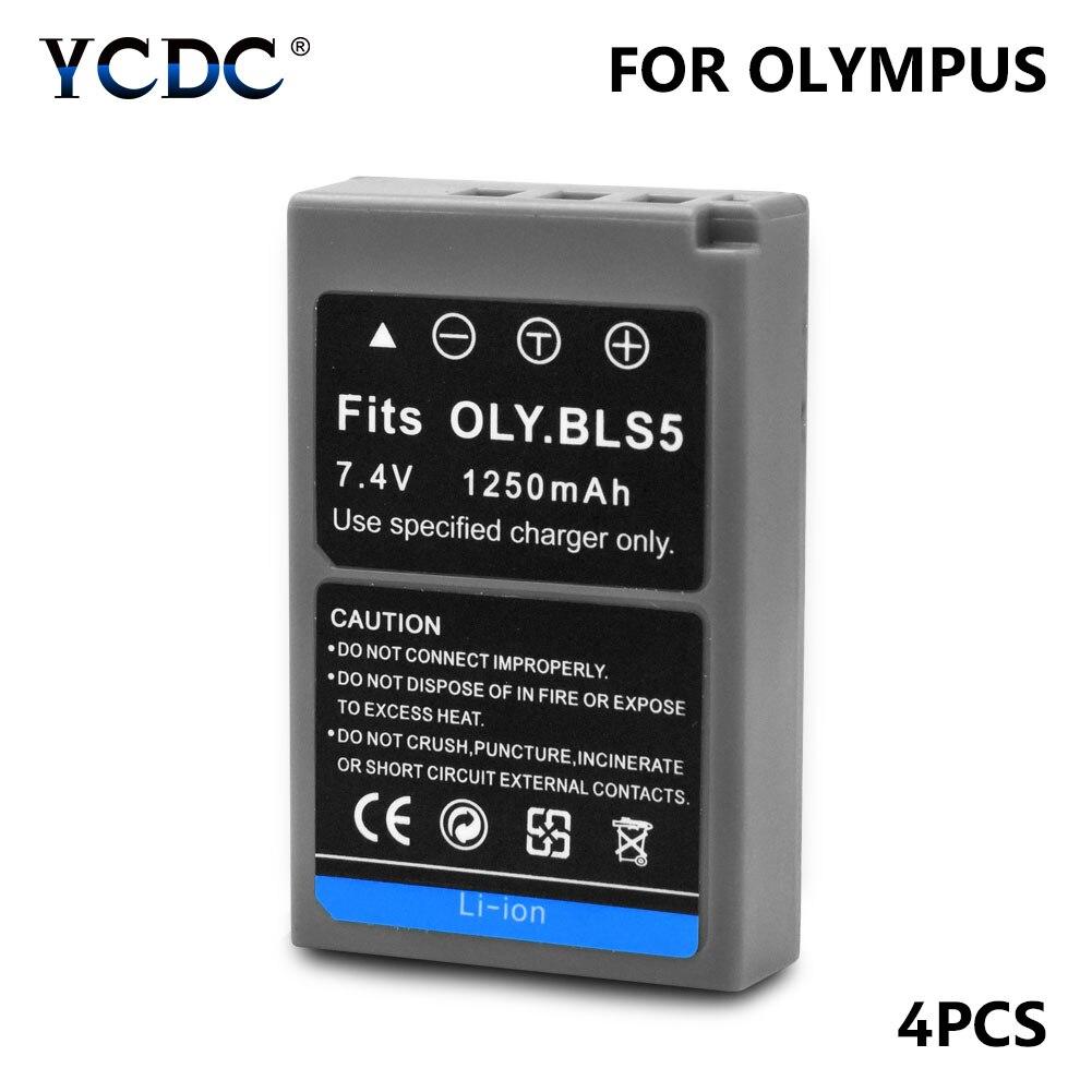ycdc-4pcs-lot-gray-1250mah-bls-5-bls-50-lithium-camera-battery-for-olympus-stylus-1-1s-camera-pen-e-pl2-e-pl5-e-pl6-e-pl7-e-pm2