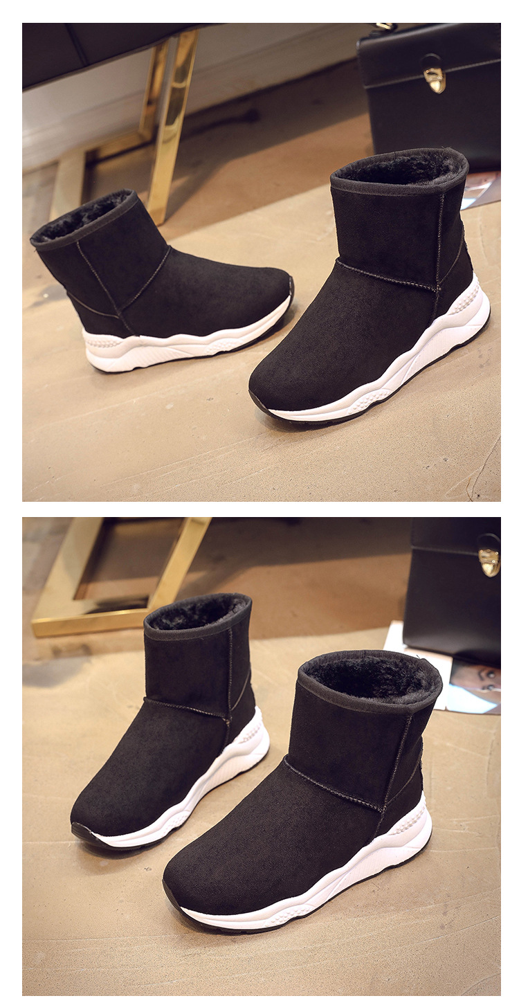 Winter Snow Boots Women Casual Shoes Slip On Warm Plush Women Ankle Boots Flat Heel Sport Ladies Shoes Booties Botas Mujer XZ82 (18)