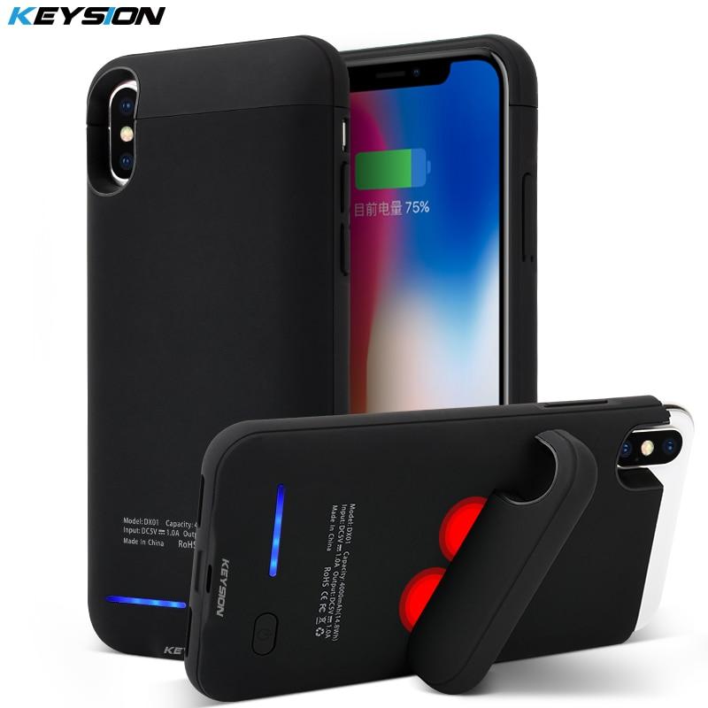 KEYSION Tragbares Ladekoffer Für iphone X 4000 mAh Batterieleistungbank für iphone X Ladegerät Fall für iPhone 10