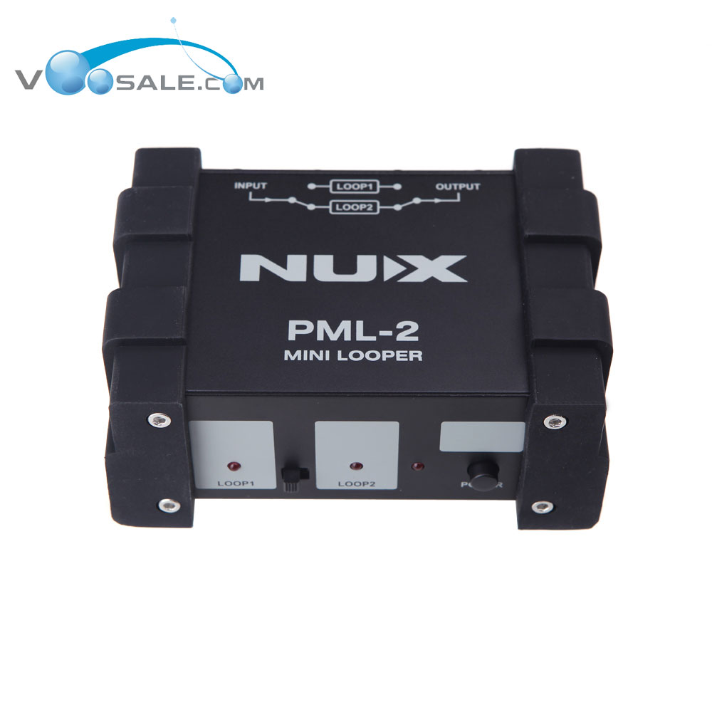 NUX PML-2 Mini Looper True Bypass A/B Signal MIDI Looper Remote Function nux pmx 2 multi channel mini mixer 30