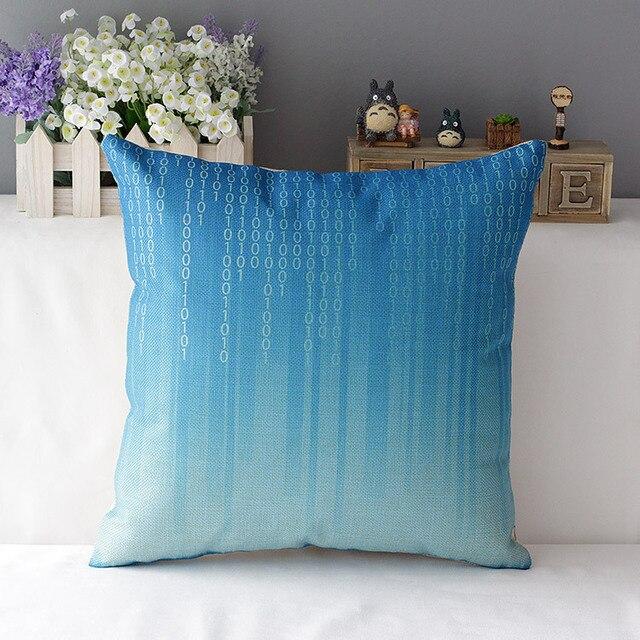 Light blue cushion covers gray navy decorative throw pillows