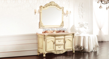 light yellow ash board, wood grain yellow thicken marble cabinet and mirror,  Bathroom Vanities