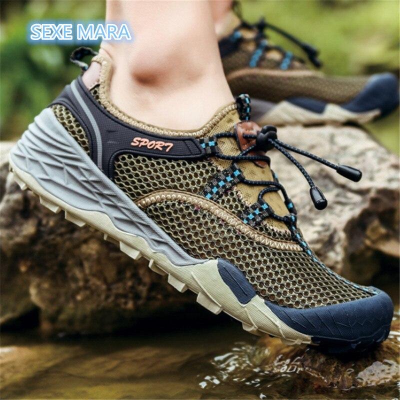 2018 высококачественные летние Для мужчин открытый кроссовки дышащая обувь Для мужчин сандалии для прогулок Для мужчин противоскольжения вн... ...
